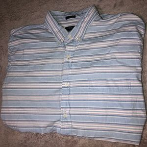 Blue and Pink Striped J. Crew Long Sleeve Shirt